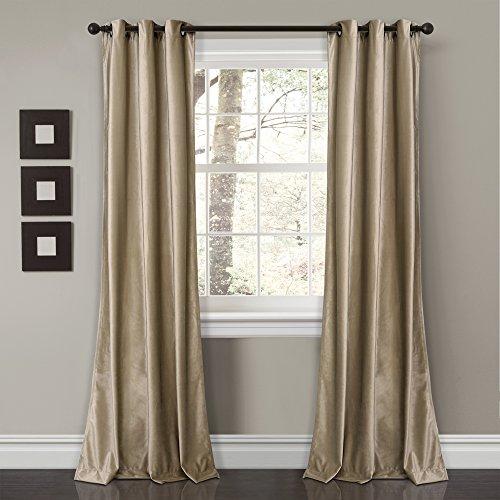 or Prima Velvet Solid Room Darkening Window Curtain Panel Pair, 84