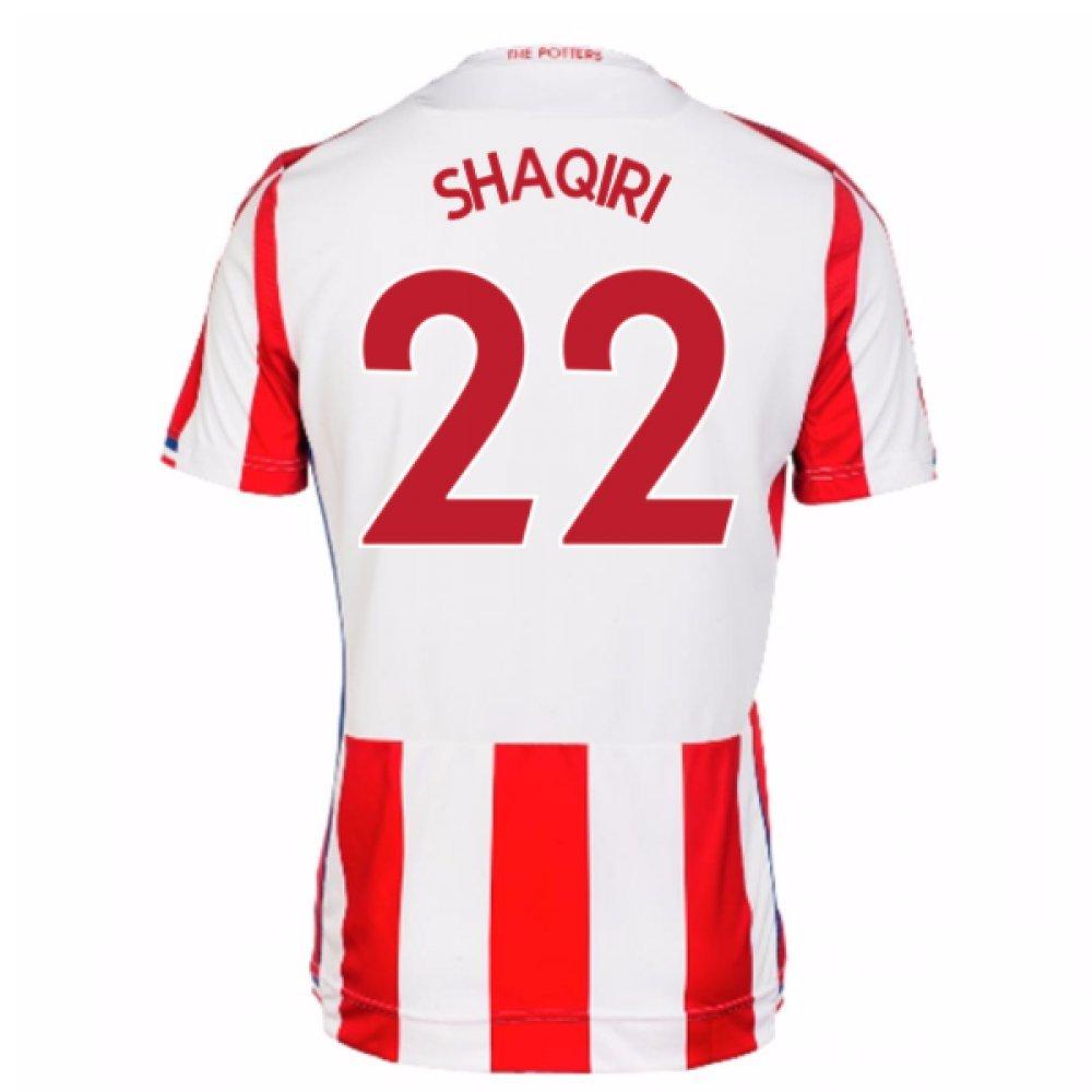 2017-18 Stoke City Home Shirt (Shaqiri 22) B077RSQTB6Red Large Adults
