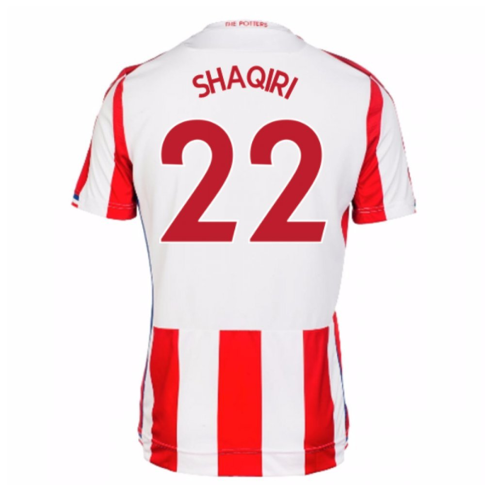 2017-18 Stoke City Home Football Soccer T-Shirt Trikot (Xherdan Shaqiri 22)