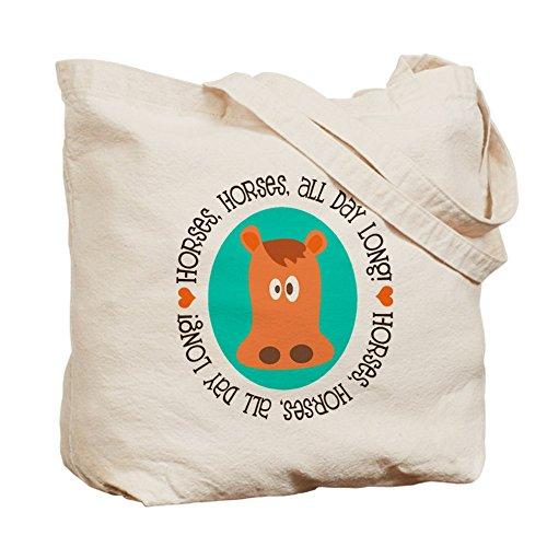 CafePress–Cavalli Tutto il giorno–Borsa di tela naturale, panno borsa per la spesa