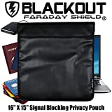 RFID Blocking Faraday Cage Privacy Bag EMP BLACKOUT® Bag 16'' X 15'' Laptops, Tablets Smartphones Hard Drives iPad iPhone Galaxy Passports Credit Cards