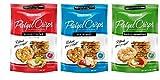 Snack Factory Deli Style Pretzel Crisps 3 Flavor Variety Bundle, (1) each: Everything, Original, Garlic Parmesan (7.2 Ounces)