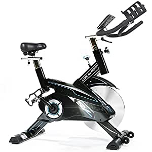 CycleFire Indoor Cycling Bike - Professional Home Cardio Gym Sports HIIT Training System With Pulse And LCD Display (BLACK)