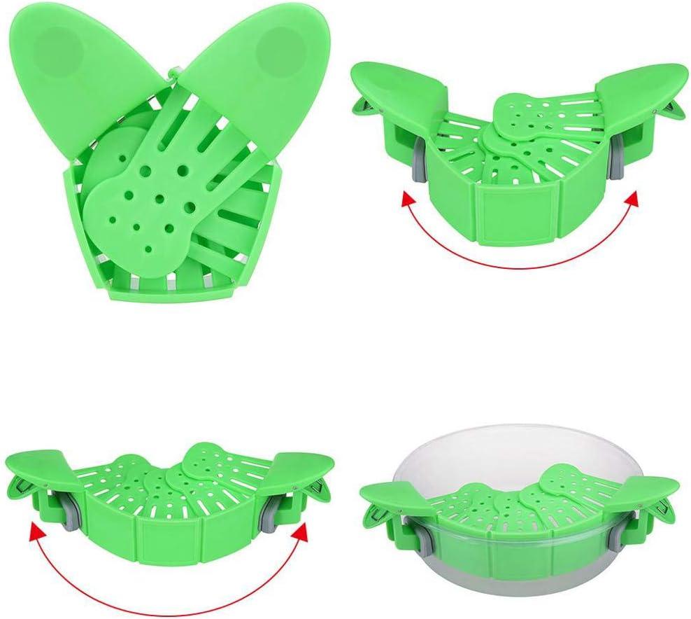 yuanzhou Snap Strainer Clip On Pot Pasta Strainer Clip-on Silicone Pot Pan Strainer Snap Strainer for Bowl Pot Pan