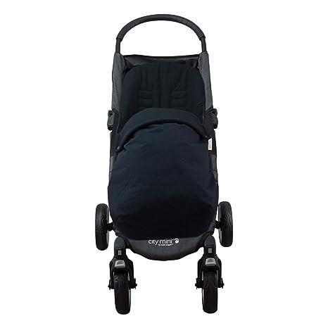 JANABEBE Saco para Baby jogger city mini, Impermeabilizado (BLACK SERIES, ALGODÓN)