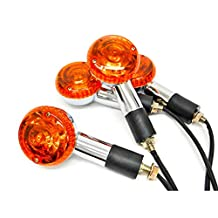 Motorcycle 4 pcs Amber Round Turn Signals Lights For Suzuki Boulevard S40 S50 S83