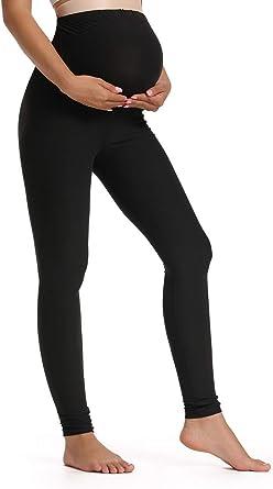 Maternity Sports Trouser Workout Capris Yoga Pants Leggings Black XL