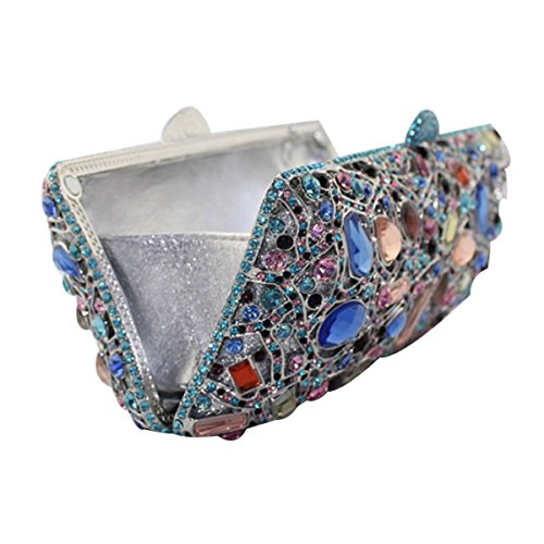 Sac Blue De Mode à En De Femme Diamant Main Sac Soirée Pour rrZnqUf