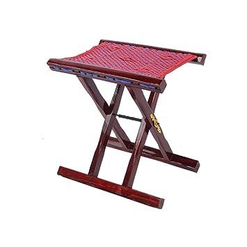 Fine Amazon Com Qidi High 38Cm Wooden Bench Small Stool Folding Bralicious Painted Fabric Chair Ideas Braliciousco