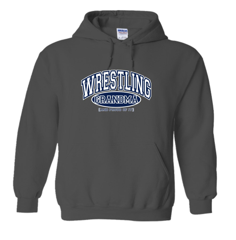 Fair Game Wrestling Grandma and Proud of It Hoodie-Charcoal-2X