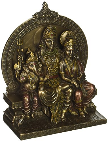 Gangesindia vzk896Señor Shiva familia estatua hindú religioso, multicolor