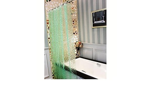 eleoption cuarto de baño bañera cortina de ducha impermeable 3d ...