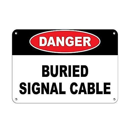 Danger Buried Signal CablePlaca de Metal Vintage Placa de ...