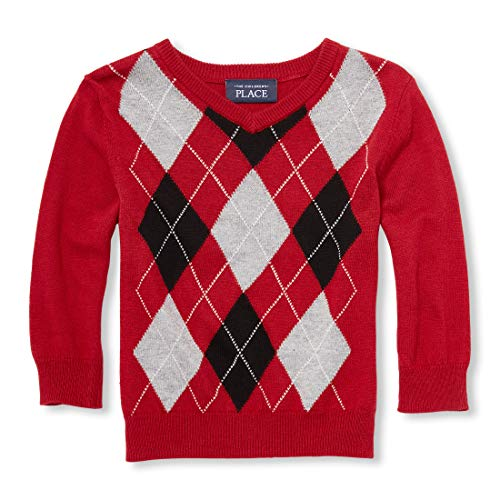 Baby Boy Argyle Sweater (The Children's Place Baby Boys Argyle Sweaters, red Colonial,)