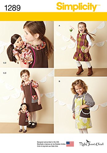 Buy matching girl and doll dress patterns - 4