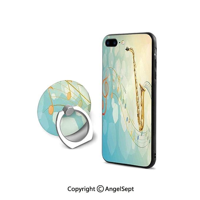 Amazon.com: Funda para iPhone 7/8 con anillo giratorio de ...