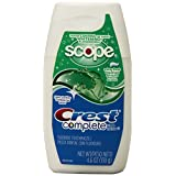 Crest Complete Tartar Control Whitening Plus Scope Liquid Gel Toothpaste, Minty Fresh 4.6 oz, 6 Count