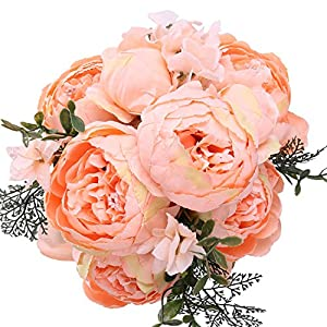StarLifey Faux Peonies Vintage Silk Flowers for Home Kitchen Wreath Wedding Centerpiece Decor Multi Color Selection 18