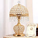 HH Simple Modern Style Bedroom Bedside Luxury Crystal Lamp