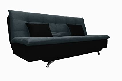 Adorn India Aspen Three Seater Sofa Cum Bed (Dark Grey and Black)