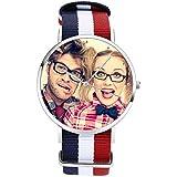 SOUFEEL Personalized Watch for Women Waterproof Wrist Watch Nylon Band Custom Photo Watch Case 36mm