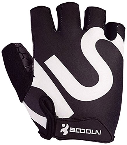 BOODUN Men Women Cycling Gloves with Shock-absorbing Gel Pad Breathable Half Finger Mountain Bicycle Bike Road Racing Gloves