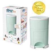 Dekor Plus Hands-Free Diaper Pail | Easiest to Use | Just Step. Drop. Done! | Pail Won't Absorb Odors/Rust | 20 Second Bag Change | Most Economical Refill System | Great for Cloth Diapers | Soft Mint