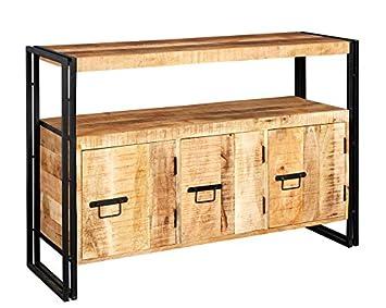 Verty Furniture Industrie Stil 3 Schublade Breit Sideboard Esszimmer