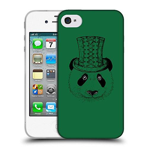 GoGoMobile Coque de Protection TPU Silicone Case pour // Q08350622 Chapeau panada Cadmium vert // Apple iPhone 4 4S 4G