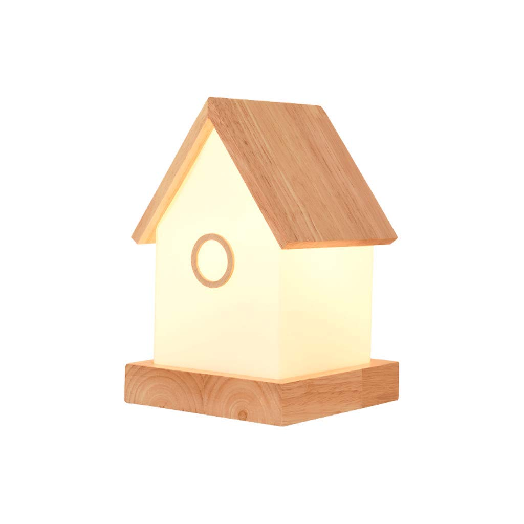 YXN Simple Modern Solid Wood House Table Lamp Protection Eye Reading Lamp Bedroom Bedside Lamp E14 Screw1