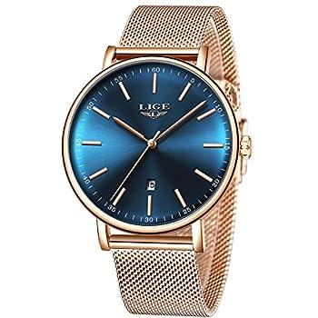 Reloj de pulsera analógico de cuarzo para hombre con correa de malla de acero de color negro, Luxury, M Hombres Relojes Relojes de Pulsera Ropa, Zapatos y Joyería