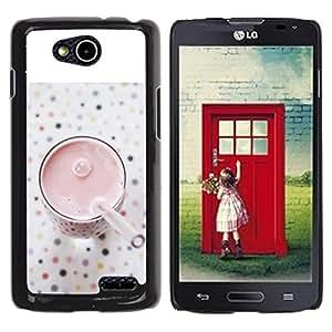 Be Good Phone Accessory // Dura Cáscara cubierta Protectora Caso Carcasa Funda de Protección para LG OPTIMUS L90 / D415 // Healthy Smoothie Strawberry