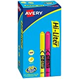 Avery Hi-Liter Pen-Style Highlighters, Smear Safe Ink, Chisel Tip, 24 Assorted Color Highlighters (29861)