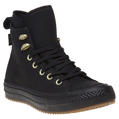 Converse Womens Boots (Converse Womens Chuck Taylor All Star Waterproof Boot Hi Black Nubuck Boots 7 US)
