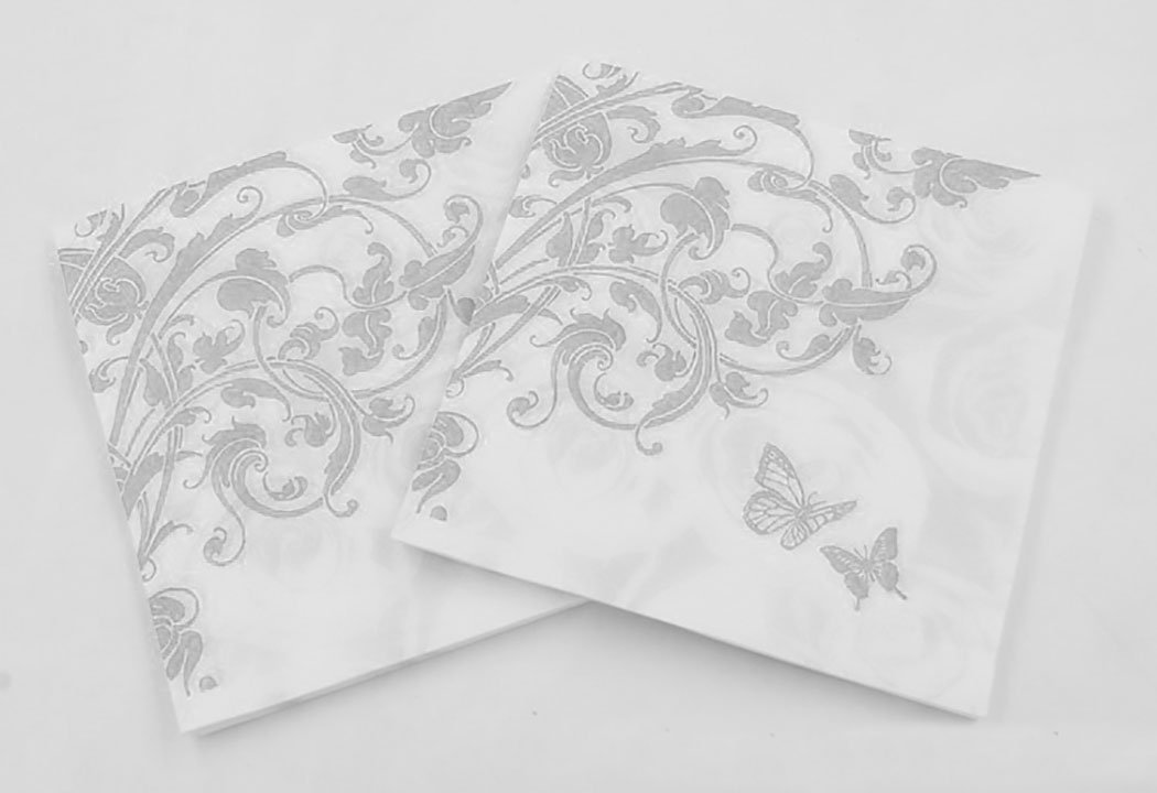 Funpa 100PCS Party Napkins Floral Printed Paper Napkins Fashionable Beverage Napkins Party Banquet Napkins by Funpa (Image #6)
