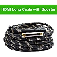 Million High Speed Prime Long HDMI Cable 100 Feet with Ethernet Built in Signal Booster-Supports 3D,1080p,-for In-wall Installation