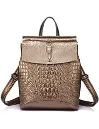 Women Leather Backpacks For Girls Teenagers School Ladies Shoulder Bag Crocodile Prints Backpack