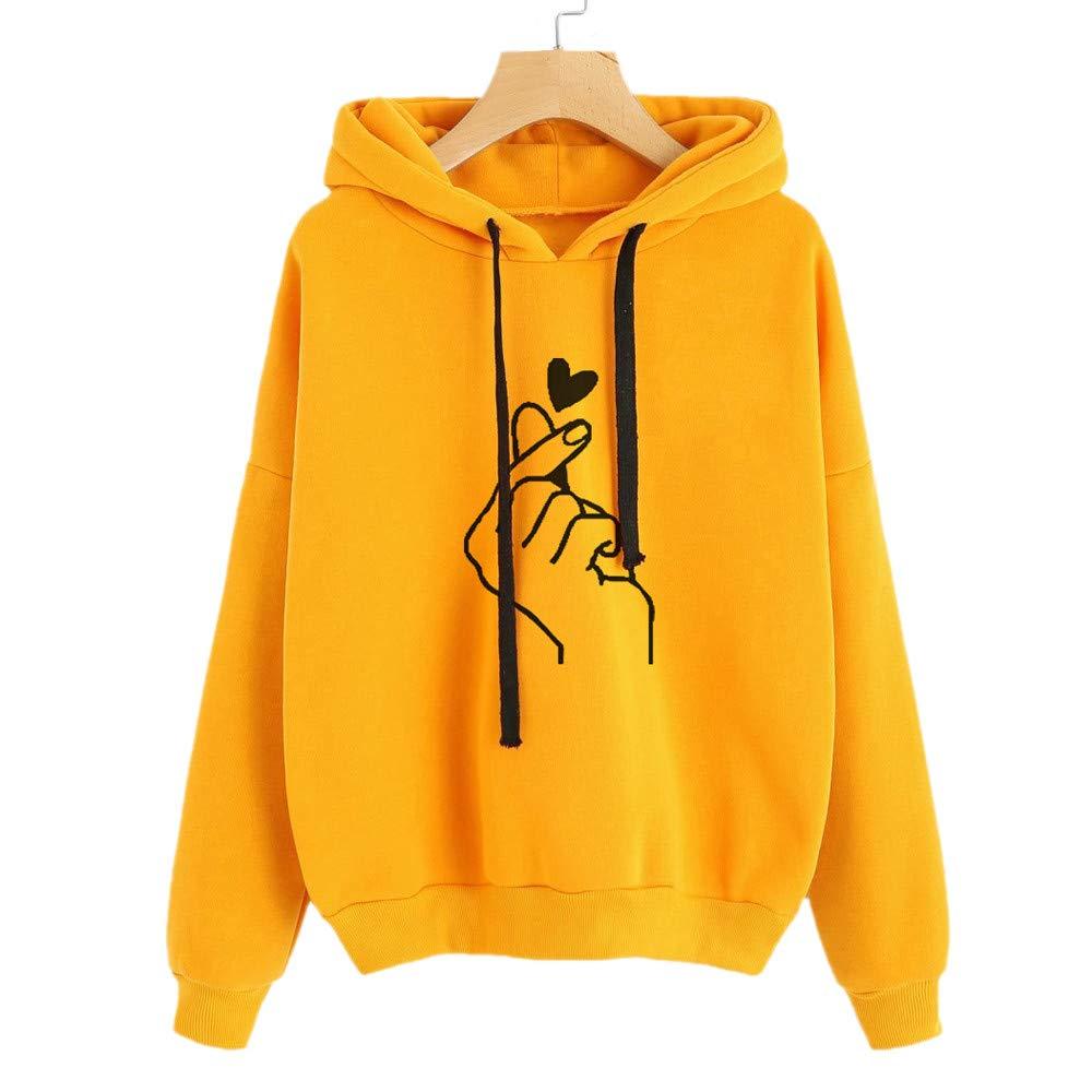 OGGID Donna Felpa con Cappuccio Tumblr Sportiva Donna Felpe Moda Stampare Sweatshirt Maglietta Lungo Manica Ragazza Pullover Hoodies Giacca Tops
