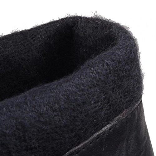 ... Damen High Braun Knee Winter Modern Kniehohe Stiletto 10cm und Elegant  AIYOUMEI Stiefel Absatz Boots Plateau a71ddd050d