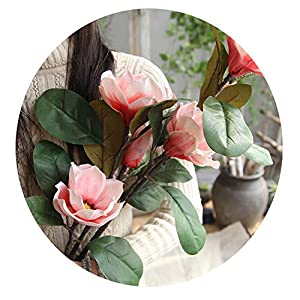 Elibone artificial-flowers for Wedding Artificial Fake Flowers Leaf Magnolia Floral Wedding Bouquet Party Home Decor Decoration Wall A4 119