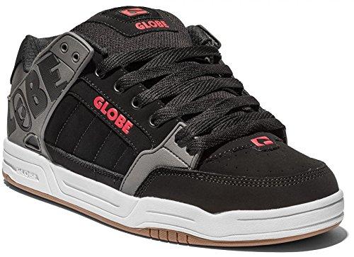 Globe Tilt, Men's Skateboarding Shoes Black/Charcoal/Red