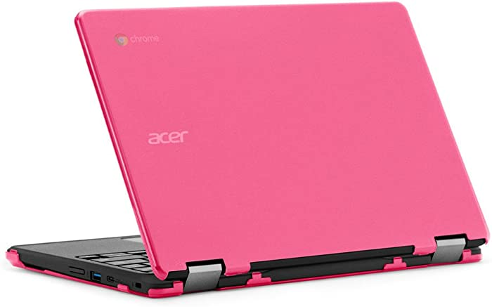 """mCover iPearl Hard Case for 11.6"""" Acer Chromebook Spin 11 R751T CP311 CP511 Series (NOT Compatible with R11 CB5-132T / C738T, C720/C730/C740/CB3-111/CB3-131 Series) Convertible Laptop (Pink)"""