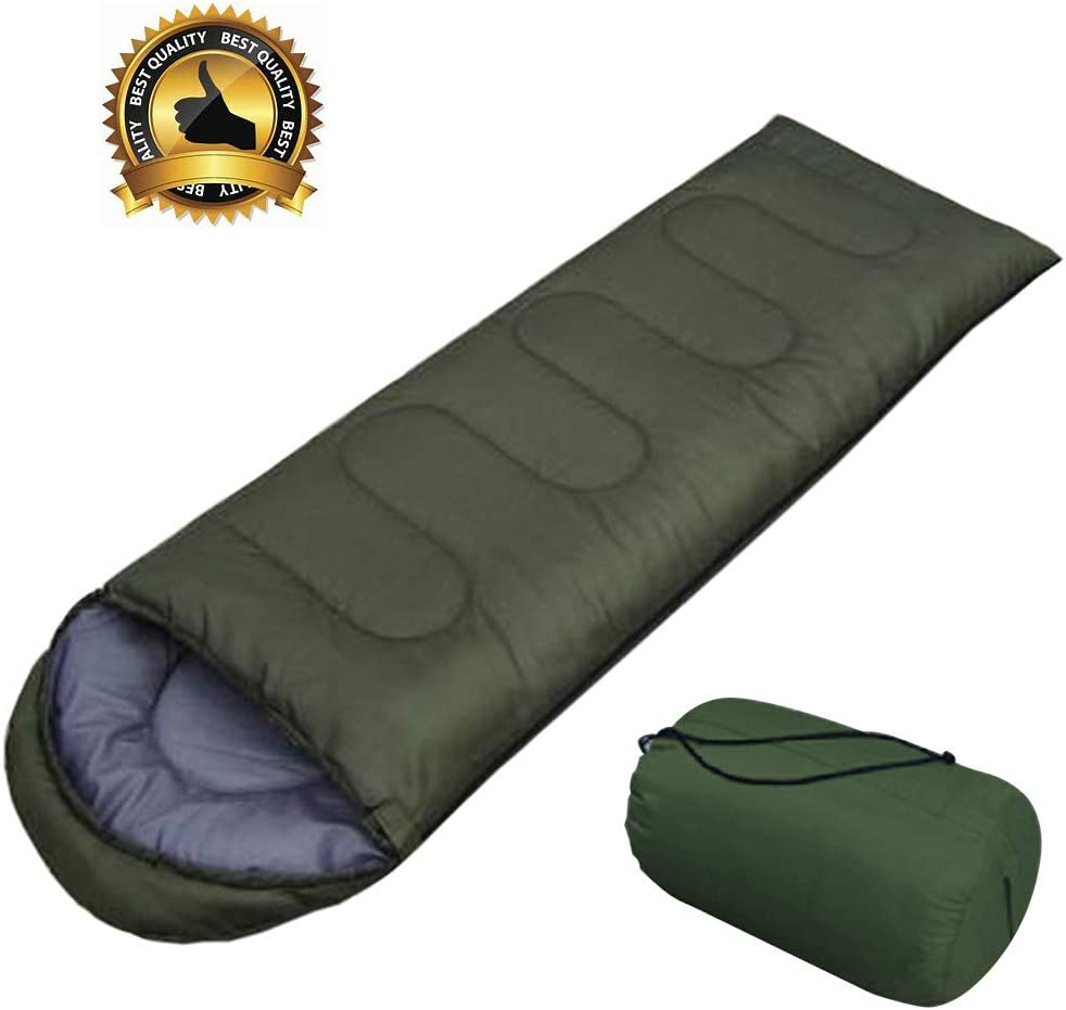 AIR BOLING Sleeping Bag, Envelope Portable and Lightweight for 2-3Season Camping, Hiking, Traveling, Backpacking and Outdoor Activities