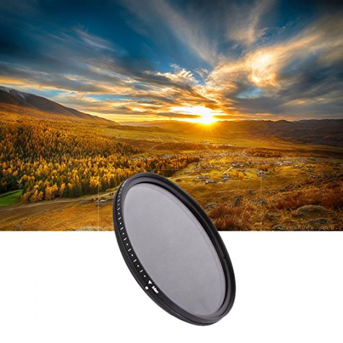 OBOSS 72mm Slim Fader ND Filter Adjustable Variable Neutral Density ND2 to ND400 for Canon /Nikon 18-200 Canon 18-85 OBS11928