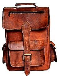 TLC Leather Backpack with padding Hiking Bag Rucksack School Bag College Bag
