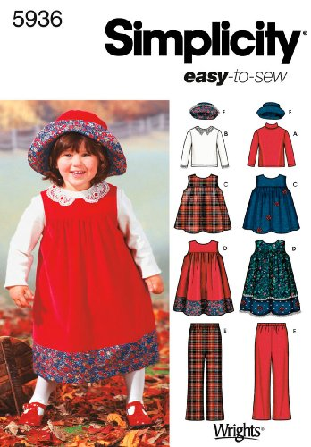 Simplicity Sewing Pattern 5936 Toddler Separates, A (1/2-1-2-3-4) - Stretch Pinwale Corduroy