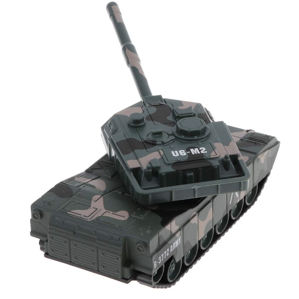 aus Legierung Camouflage 1:43 Panzer Modell Spielzeug Kampfpanzer mit 180 Grad Drehen