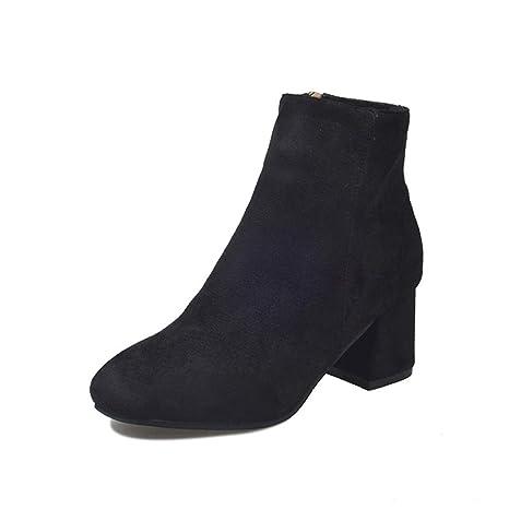 0fa69468580fc Amazon.com: Eric Carl Women's Chunky Block Heel Side Zipper Closure ...