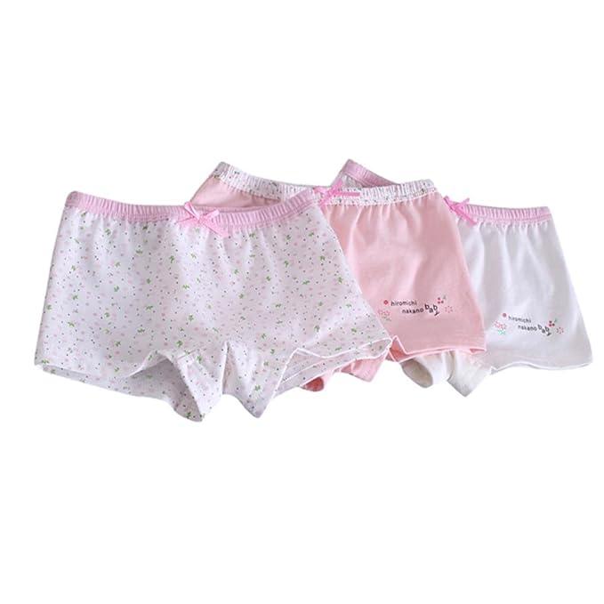Ropa de Bebe Recién Nacido, Zolimx 3Pcs Bebé Niñas Suave Niños Ropa Interior Calzoncillos Boxer