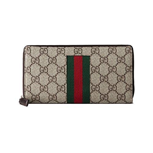 Gucci Billetera de cuero para Mujer SUPREME SIGNATURE: Amazon.es: Ropa y accesorios